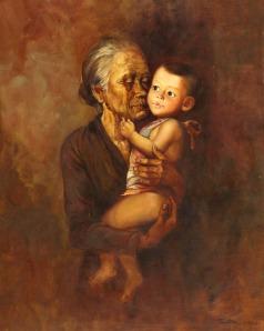 foto Nenek dan Cucu RUSTAMADJI